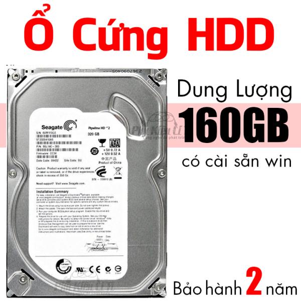 Bảng giá Ổ cứng HDD máy tính bàn Seagate 160 GB Cài sẵn hệ điều hành Bảo Hành 2 Năm Phong Vũ