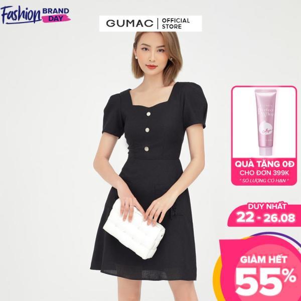Nơi bán Đầm nữ đính nơ túi đắp DB5122 GUMAC mẫu mới, thanh lịch trẻ trung, chất liệu bố hột cao cấp, giữ form tôn dáng( có hình mẫu thực tế)