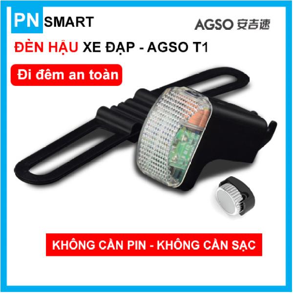 Bộ đèn hậu chớp cảnh báo cho xe đạp AGSO T1 - tự phát điện, chống nước, không cần pin
