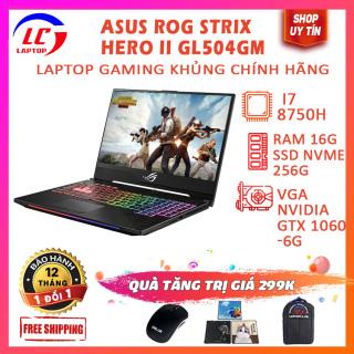 Laptop Chuyên Gaming Cực Chất, Hàng Cao Cấp Viền Siêu Mỏng Asus ROG Strix Hero II GL504GM, i7-8750H, RAM 16G, SSD Nvme 256G + HDD 500G, VGA Nvidia GTX 1060-6G, LaptopLC298 thumbnail