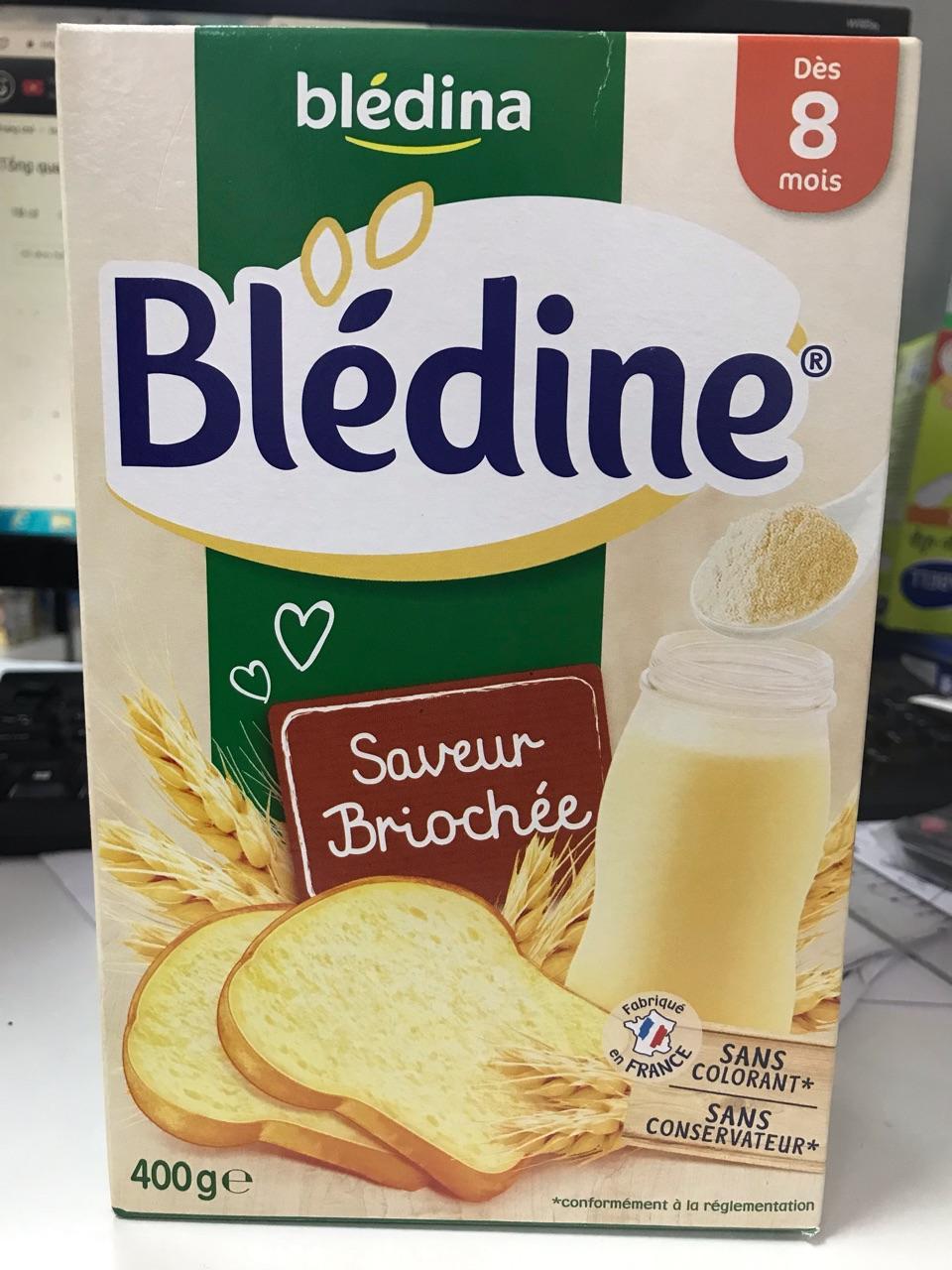 Bột pha sữa Bledina vị bánh mỳ 500g 8m+