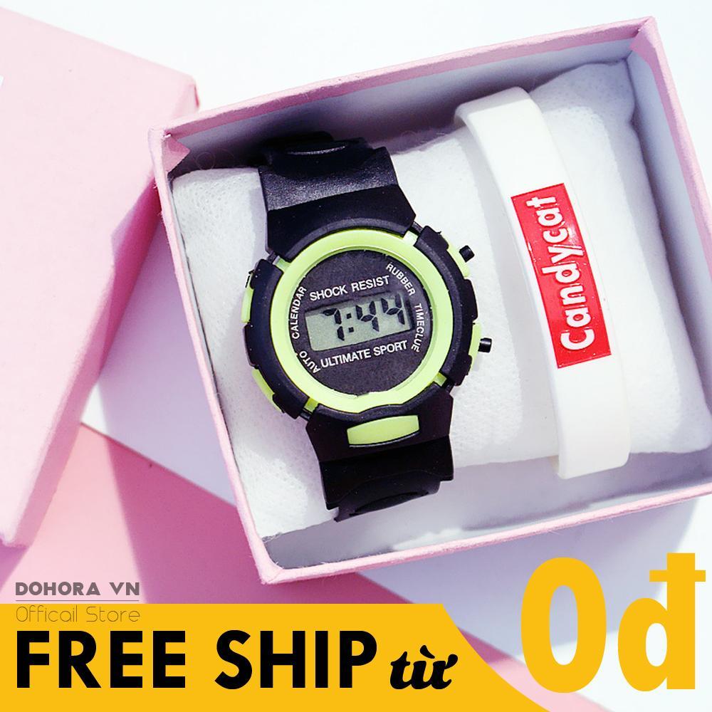 Nơi bán Đồng hồ bé trai, đồng hồ bé gái, đồng hồ trẻ em, đồng hồ học sinh điện tử siêu cute dây cao su cực bền có chống nước