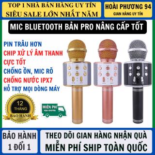 Micro Karaoke Bluetooth Micro Không Dây Bản Nâng Cấp Mới Chip Khỏe Pin Trâu Hát Siêu Hay Hỗ Trợ Mọi Dòng Điện Thoại, Mic Karaoke Mic Hát Bluetooth thumbnail