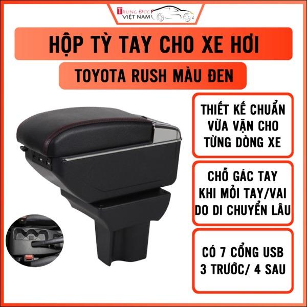 Hộp tỳ tay cho xe TOYOTA RUSH - 7 cổng usp, 2 ngăn đựng đồ tiện ích - quà tặng cây thông thơm treo xe