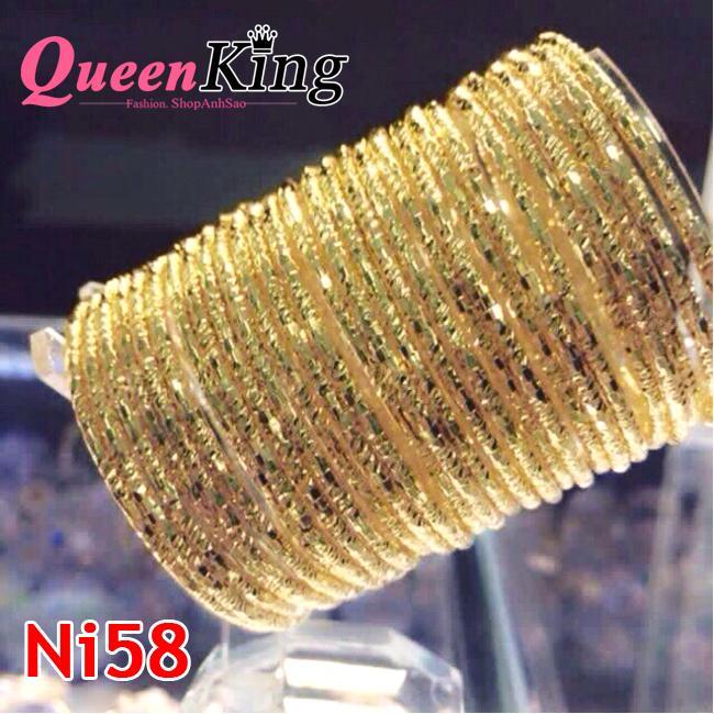 Bộ Vòng Tay XiMen 7 Chiếc Có Khóa Gài Mạ Vàng 18k- QueenKing