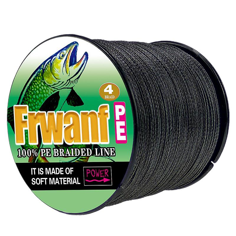 Frwanf 4 Strand 100m Pe Braided Fishing Line 4 Strand Super Strong Multifilament Thread For Fishing Carp 100lb.