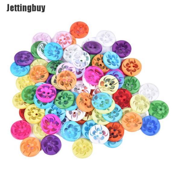 Bảng giá Jettingbuy 100 Cái 14MM Hoa Hình Dạng Nút Nhựa Áo May Quần Áo Nút Trang Trí Điện máy Pico