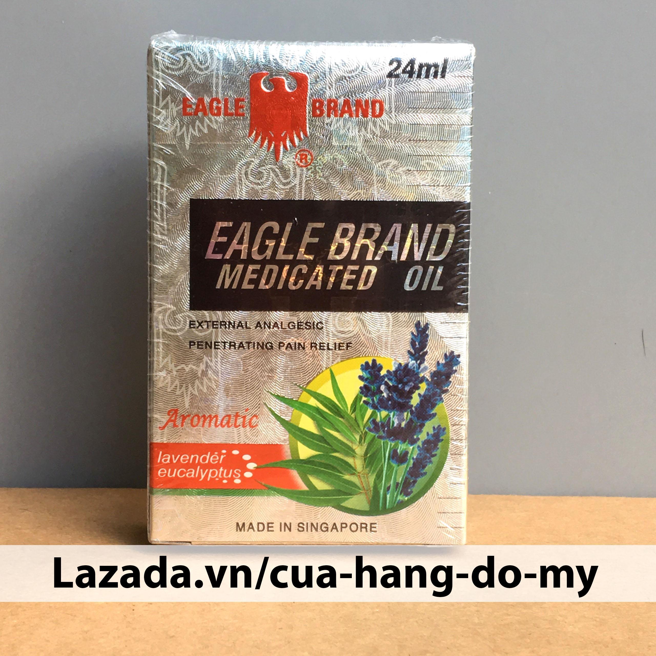 Dầu Gió Trắng Singapore Con Ó Eagle Brand 24ml - Mùi Lavender chính hãng