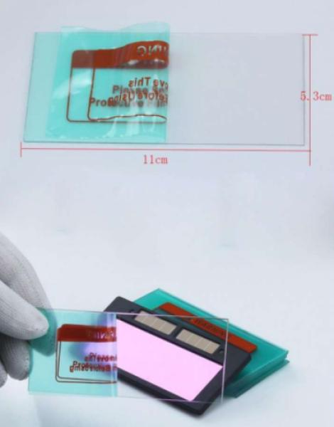 Giá bán combo 5 tấm mica chắn xỉ bảo vệ kính hàn điện tử  50*108mm