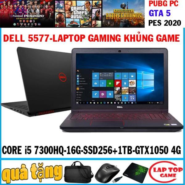 Bảng giá laptop gaming Dell 5577 quái vật game Core i5 7300HQ/ram 16g, ssd 256g+ hdd 1tb, VGA GTX 1050 4G/ MÀn 15.6 FHD 1080, DÒNG MÁY CHUYÊN GAME Phong Vũ