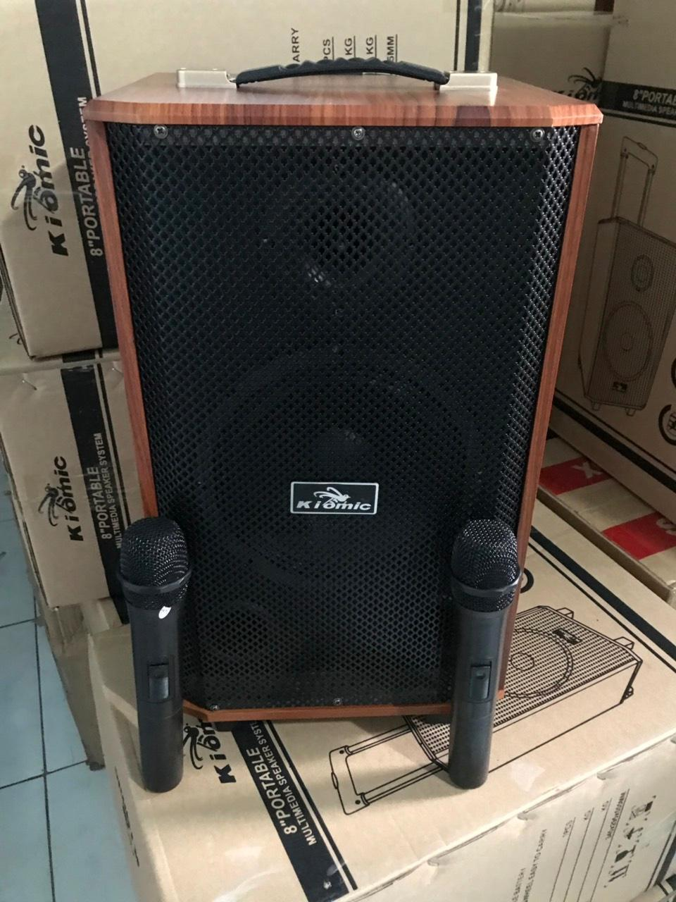 loa vali kẹo kéo karaoke bluetooth temeisheng k88 kèm 2 micro công suất lớn
