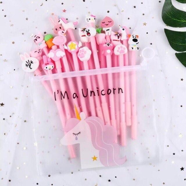 Mua Set 20 bút bi hình thú đáng yêu - Tặng túi zip đựng bút