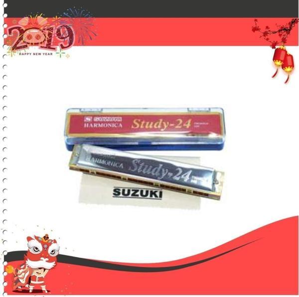Kèn Harmonica Tremolo Suzuki Study 24 lỗ key C