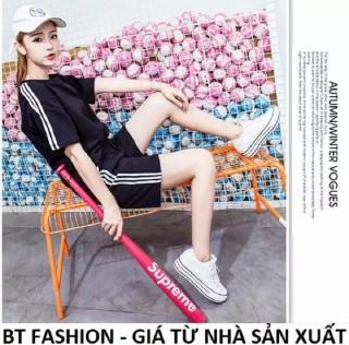 Đồ Bộ Ngủ Mặc Nhà Áo Thun Nữ + Quần Đùi Sọt Thể Thao Thời Trang Mới - BT Fashion (ĐN3C-BA SỌC MỚI) thumbnail