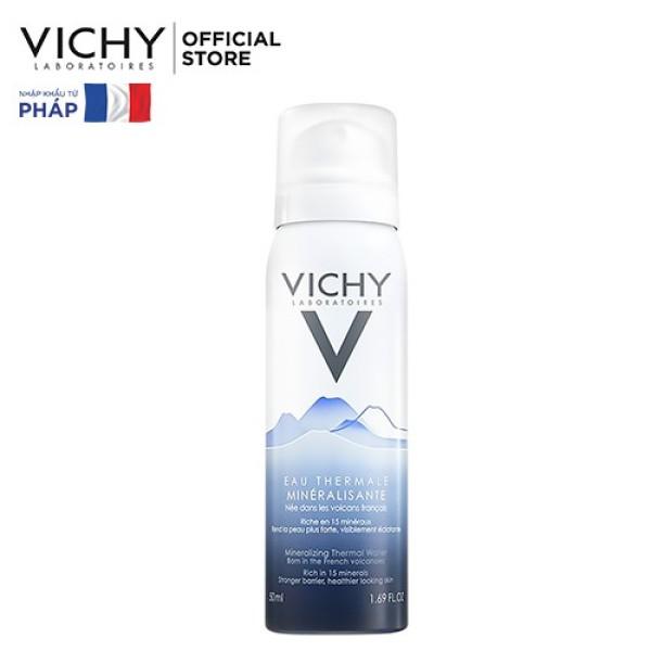 Nước xịt khoáng dưỡng da Vichy Mineralizing Thermal Water 50ml