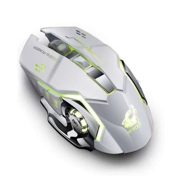 Gigaware Wolf X8 6 Buttons RGB Back-light Wireless Gaming Mouse Charging P8E1 Malaysia