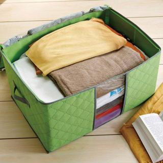 Túi vải đựng chăn mền gối, quần áo cỡ lớn tiện dụng-Màu ngẫu nhiên thumbnail