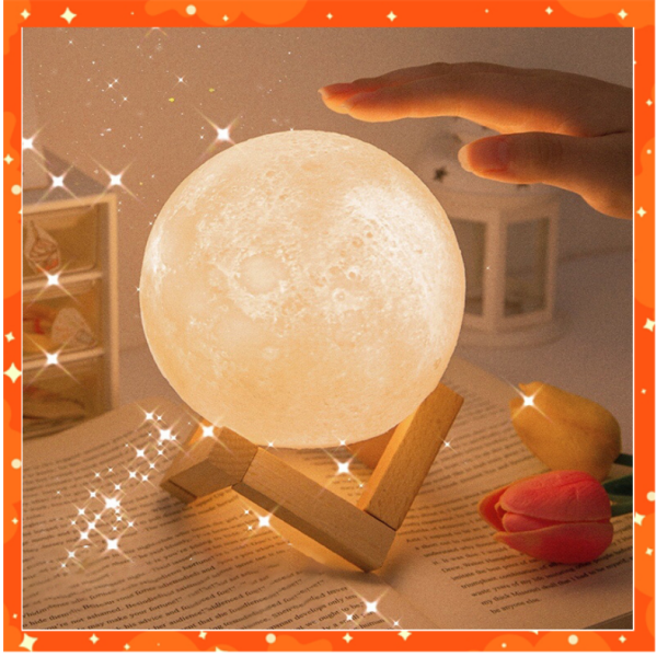 Bảng giá Đèn Ngủ Hình Mặt Trăng để bàn trang trí, để bàn học, bàn trang điểm, tặng quà sinh nhật cho tình yêu