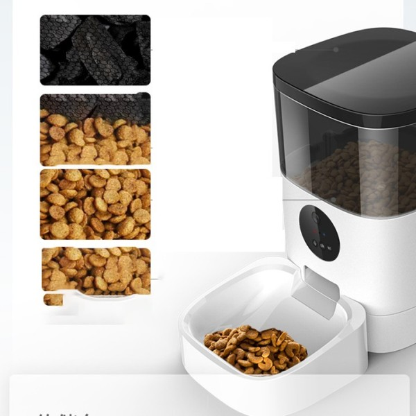 Máy thông minh cho chó mèo ăn tự động - máy chia thức ăn cho thú cưng - máy cho mèo ăn có camera 6L - dùng wiffi - Dùng APP điều khiển từ xa