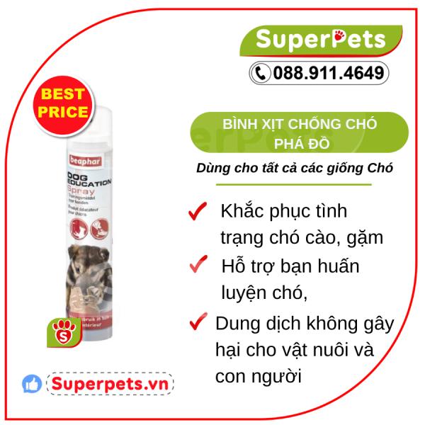 Bình Xịt Chống Chó Phá Đồ BEAPHAR DOG EDUCATION SPRAY SUPERPETS VIỆT NAM