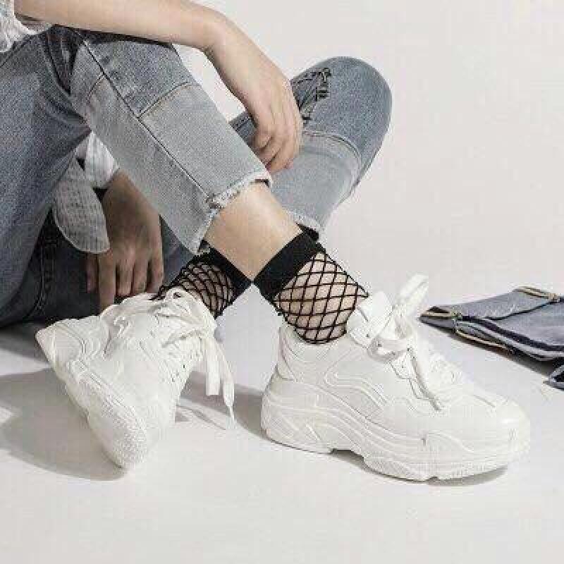 Giày sneaker nữ da mềm thể thao Bi Shop (Trắng)