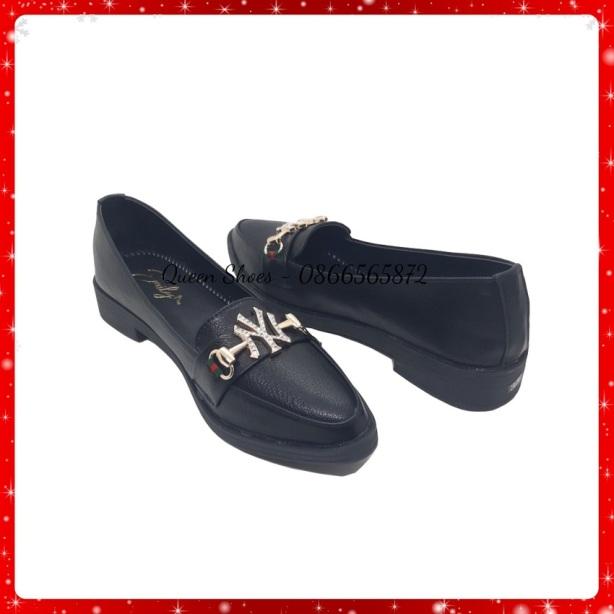 giày lười nữ, giày slip on nữ mũi nhọn kiểu giày tây đế 2 phân fom dáng trẻ trung thời trang giá rẻ