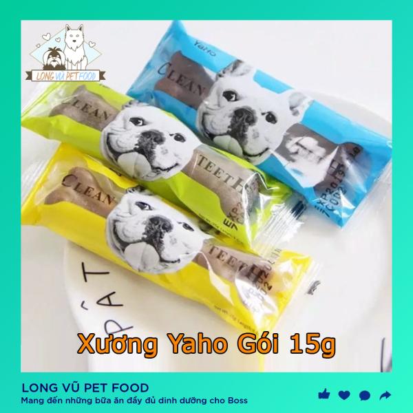 Xương gặm sạch răng canxi Yaho cho thú cưng 15g - Long Vũ Pet Food