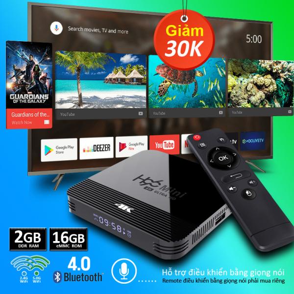 Box tivi android, tivi box, tv box xem phim 4k, bộ nhớ 16G, ram 2G, android 10.0 mới nhất, tặng tài khoản FLYSHARK miễn phí xem nhiều kênh truyền hình trong nước, bảo hành 12 tháng T95H