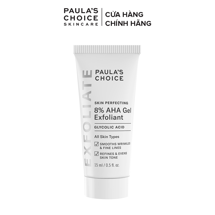 Gel loại bỏ tế bào chết làm mềm và sáng mịn da Paula's Choice Skin Perpecting 8% AHA Gel Exfoliant