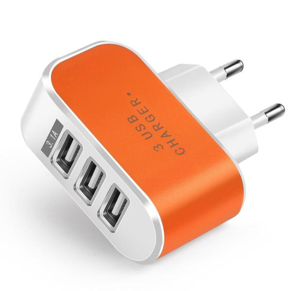 Giá Cốc sạc, củ sạc 5V - 3.1A - có 3 cổng cắm USB (3 USB Charger) Nhà Sạc AC Tường Điện Sạc USB Màu Kẹo Sạc USB phát sáng khi sạc dùng cho các loại điện thoại đi động, máy tính bảng, bộ sạc đa năng…