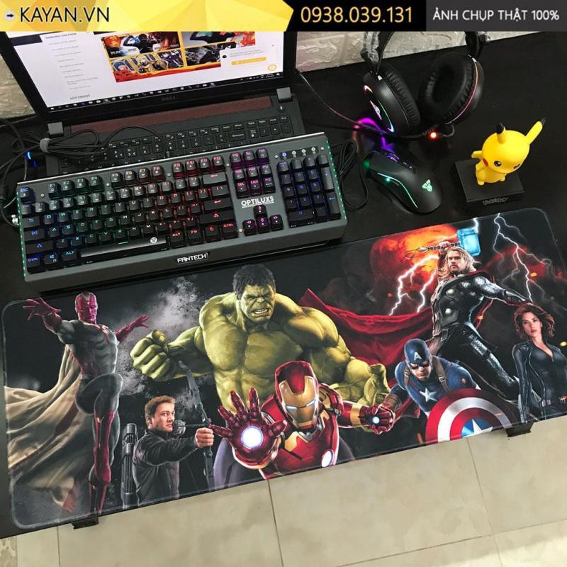 Giá [80x30x0.3 - Nhiều mẫu] Lót chuột, bàn di chuột Biệt đội siêu anh hùng Avengers