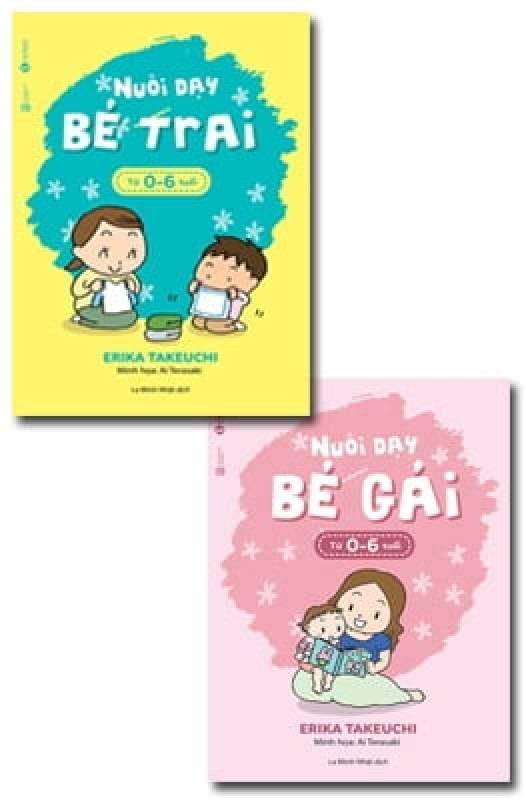 Fahasa - Combo Sách Hay Nuôi Dạy Bé Gái Từ 0 - 6 Tuổi - Nuôi Dạy Bé Trai Từ 0 - 6 Tuổi (Bộ 2 Cuốn)