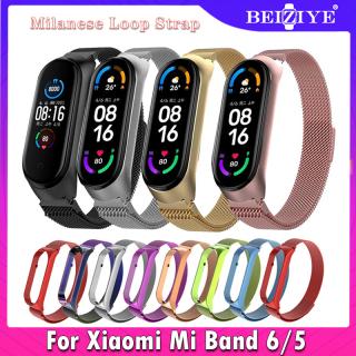 For Mi Band 6 Dây đeo nam châm Milanese Dây đeo bằng thép không gỉ cho Xiaomi Mi Band 6 5 Dây cáp thay thế miband 5 Dây đeo cổ tay cho Xiaomi Miband6 mi band 5 Dây đeo cổ tay Vòng đeo tay thumbnail