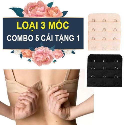 Combo 6 miếng nối dây áo ngực nới rộng áo Loại gài 3móc