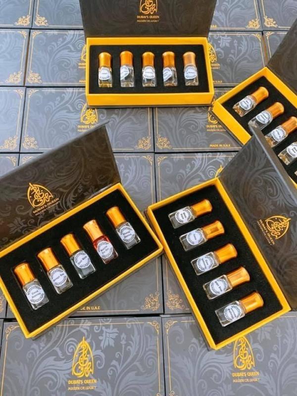 New set mini lăn Dubai Queen (set 5 chai 3ml)