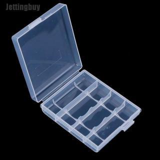 Hộp Đựng Pin Nhựa Jettingbuy Cho 4 Hộp Lưu Trữ Pin AA AAA 14500 10440 thumbnail