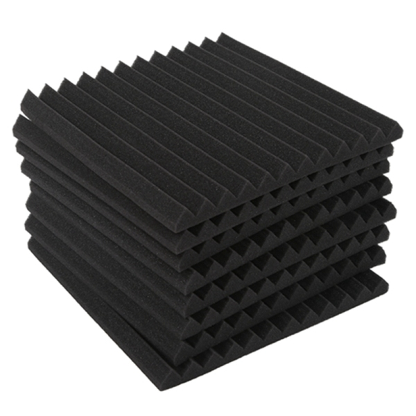 Wedge Acoustic Foam With Adhesive Tape 8 Pcs Soundproof Panels,Silencing Sponge