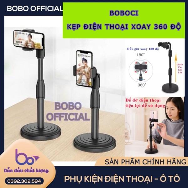 Giá đỡ điện thoại BOBOCI , kẹp điện thoại xoay 360 , đế chân tròn để bàn, giá đỡ tiện lợi đa năng - BH 1 ĐỔI 1