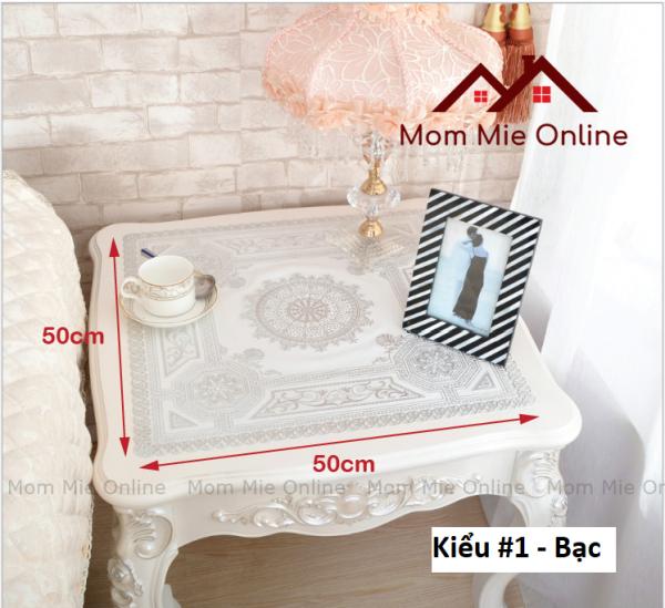50x50cm, Khăn trải bàn tấm trải hoa văn dập nổi sang trọng