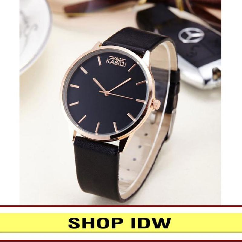 [Có video quay thật] Đồng hồ nam nữ dây da thời trang Kasiqi IDW 6781 (Nhiều màu lựa chọn)