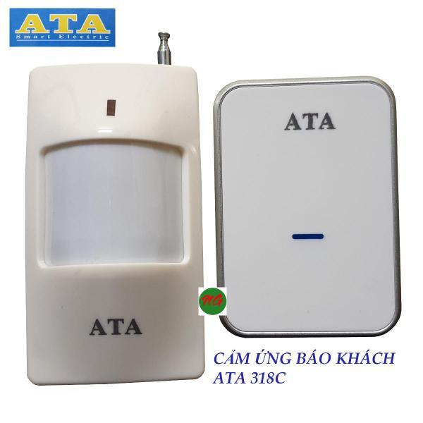 Chuông cảm biến hồng ngoại báo khách không dây ATA 318C - tiếng chuông hay và lớn - kết hợp thêm được chuông hoặc cảm biến hoặc nút nhấn