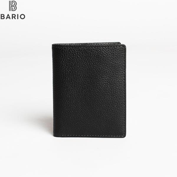 Ví/ bóp nam mini da bò miu thật đứng trơn Bario thời trang (Shop bảo hành 12 tháng)