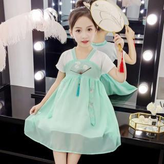 Đầm Phong Cách Trung Quốc Cho Bé Gái Mùa Hè Váy Ngắn Tay Thêu Họa Tiết Thiết Kế Cho Trẻ Mới Biết Đi