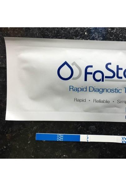 Bộ que thử viêm gan C tại nhà loại que 4mm- kit thử viêm gan C HCV Fastep Mỹ cao cấp