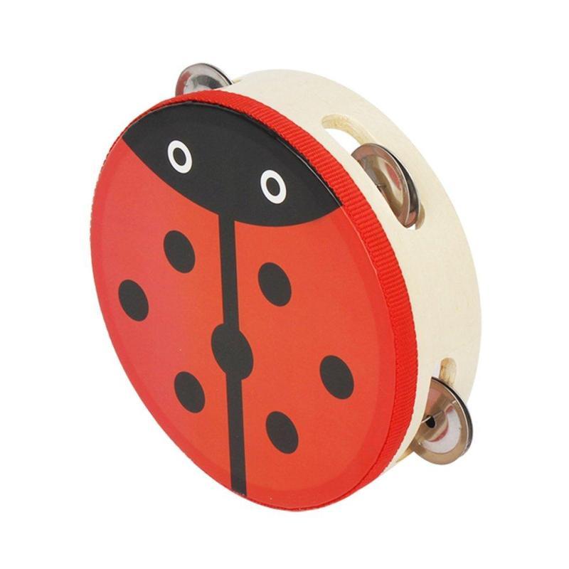1 cái Đa Màu Sắc 15 cm Trống Trống Chuông Handbell Kim Loại Jingles Bộ Gõ Đồ Chơi cho KTV Đảng Bé Trẻ Em