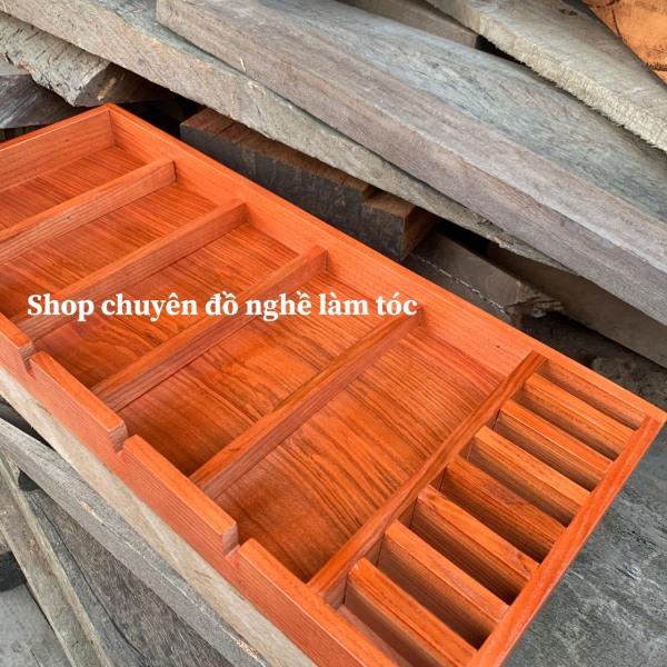 khay gỗ đựng tông đơ và đồ nghề làm tóc-tông đơ-kéo cắt tóc-shop chuyên đồ nghề làm tóc cao cấp