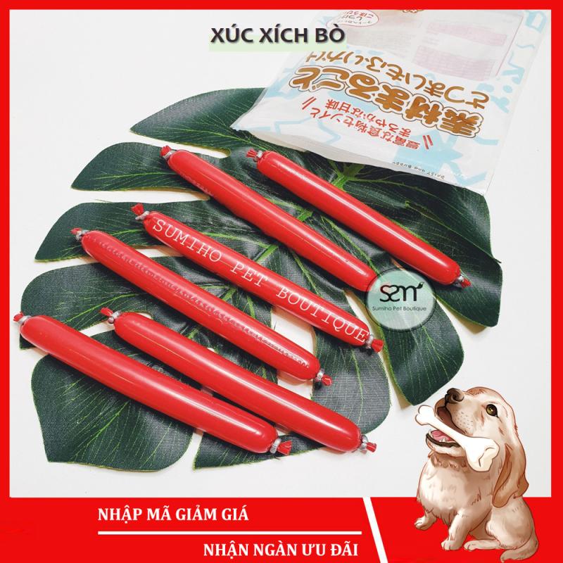 Xúc xích cho chó hương vị thịt bò Sumiho (Bịch 6 cây 100gr) Bánh thưởng cho chó mèo thú cưng