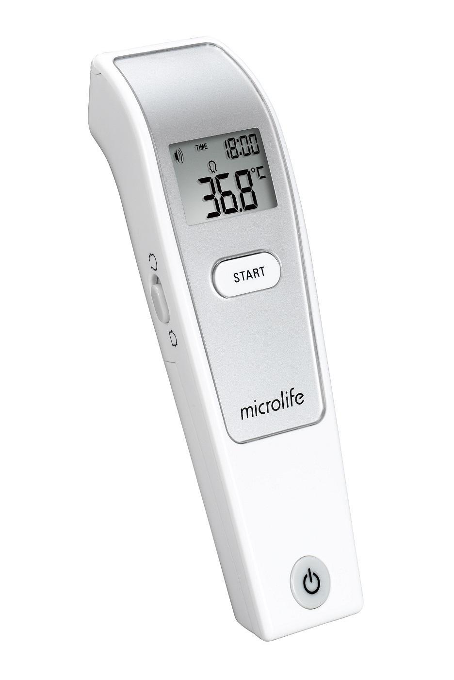 Nhiệt kế hồng ngoại đo Trán Microlife FR1MF1 - Kèm 2 hộp rơ lưỡi Dongpha