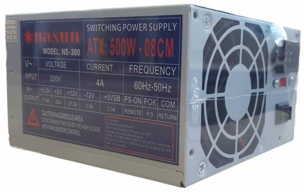 Bảng giá Nguồn máy tính fan 8cm Nasun NS-300 kèm dây nguồn Phong Vũ