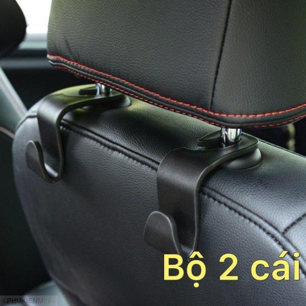 Combo 2/3/4 cái giá móc treo đa năng gắn tựa đầu treo đồ vật sau ghế ô tô, xe hơi chịu tải đến 5kg Bộ 2 cái